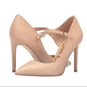 "Sam Edelman ""Nora"" Nude Patent Leather Heels 4.5M"